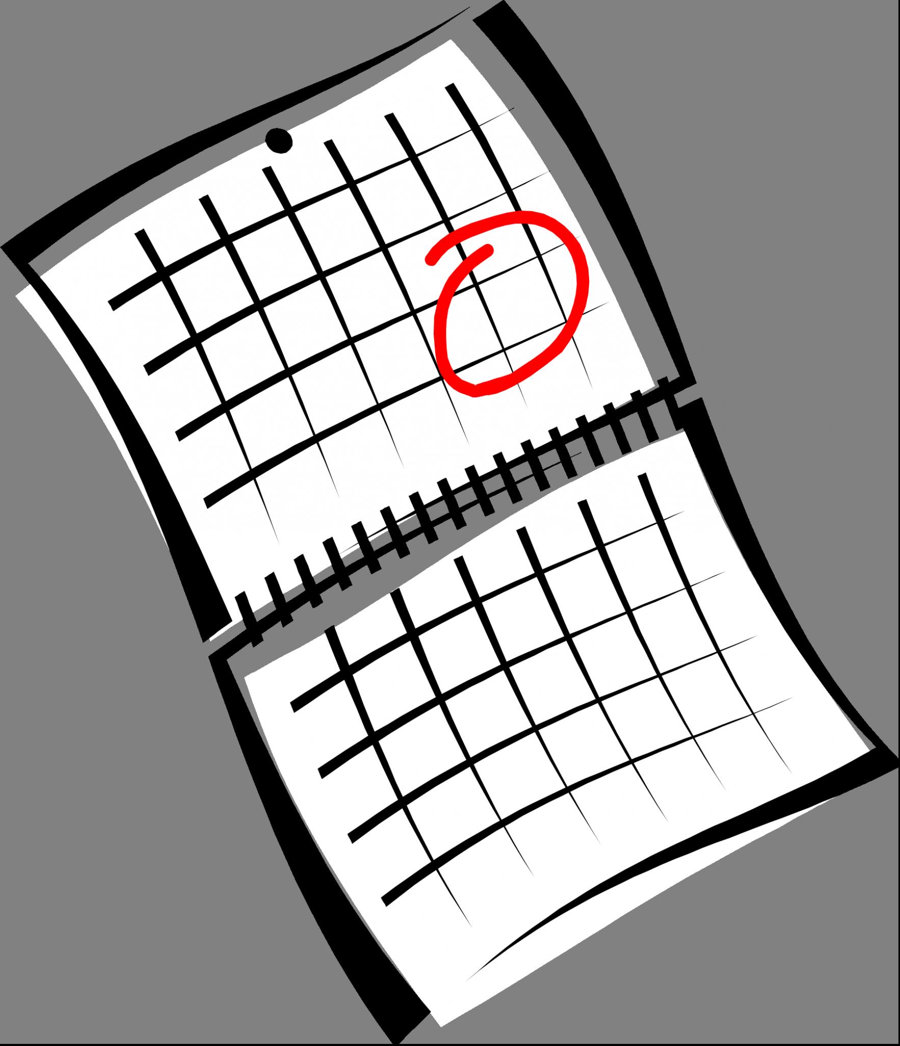 Schedule clipart clander.  collection of calendar