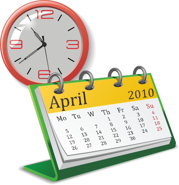 Clock and clip art. Clocks clipart calendar