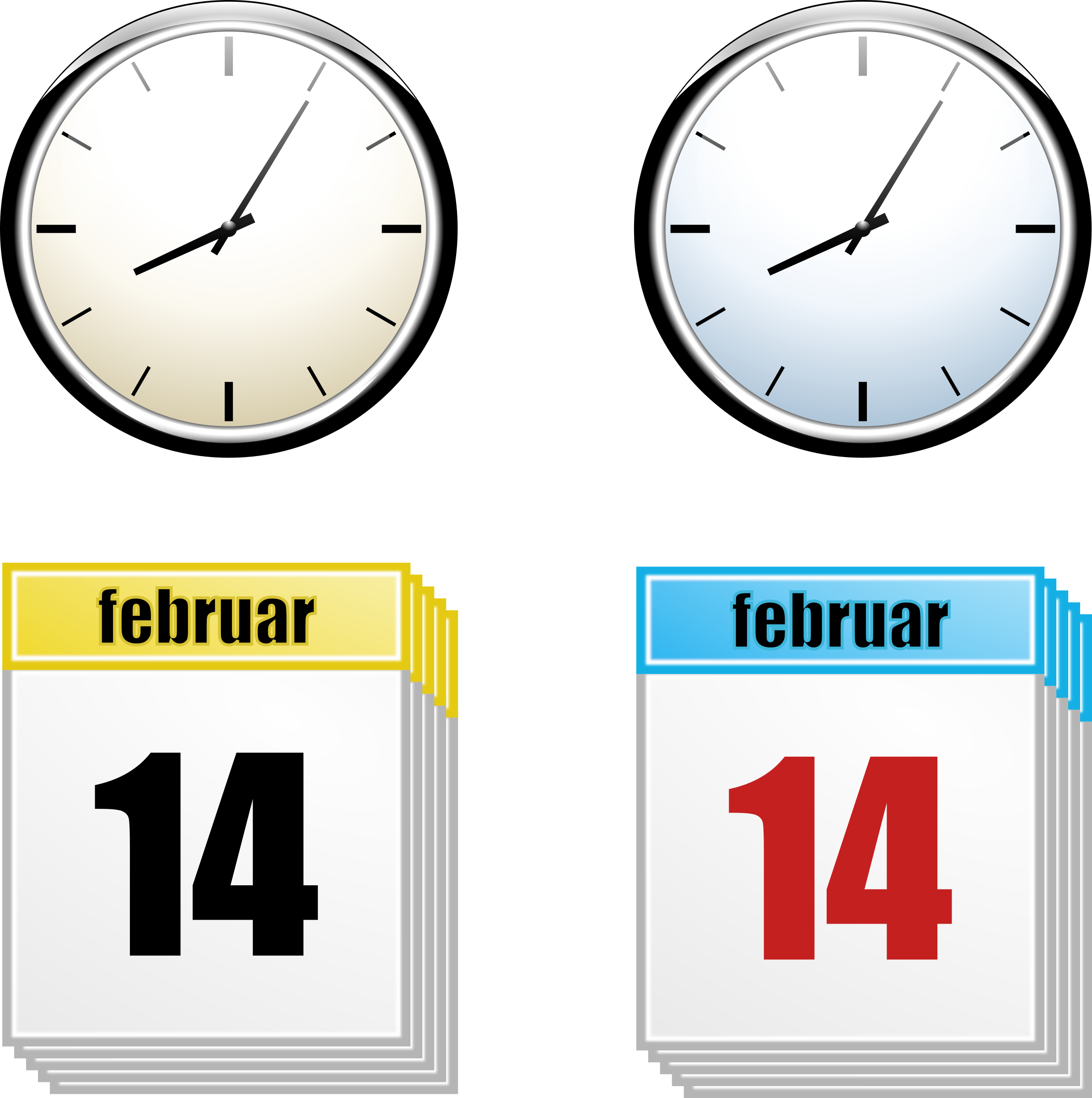 Clock big image png. Planning clipart planning calendar