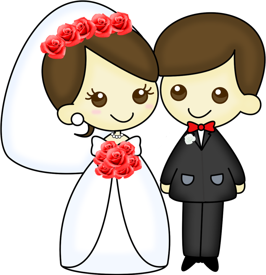Dibujos digi stamps novios. Clipart cross wedding