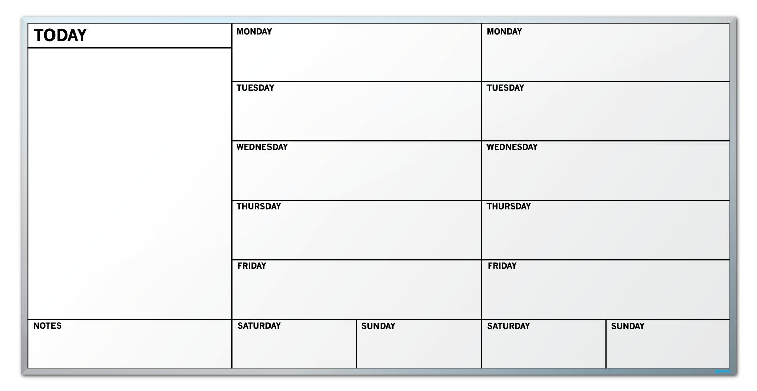 Weekly calendar erase board. Markers clipart dry eraser