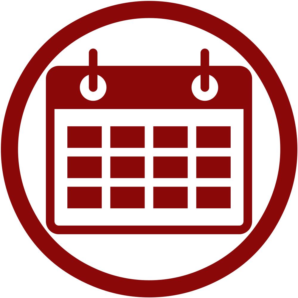 Clipart calendar weekday. St christopher catholic church
