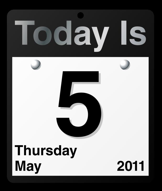 Clipart calendar weekday. Date day clip art