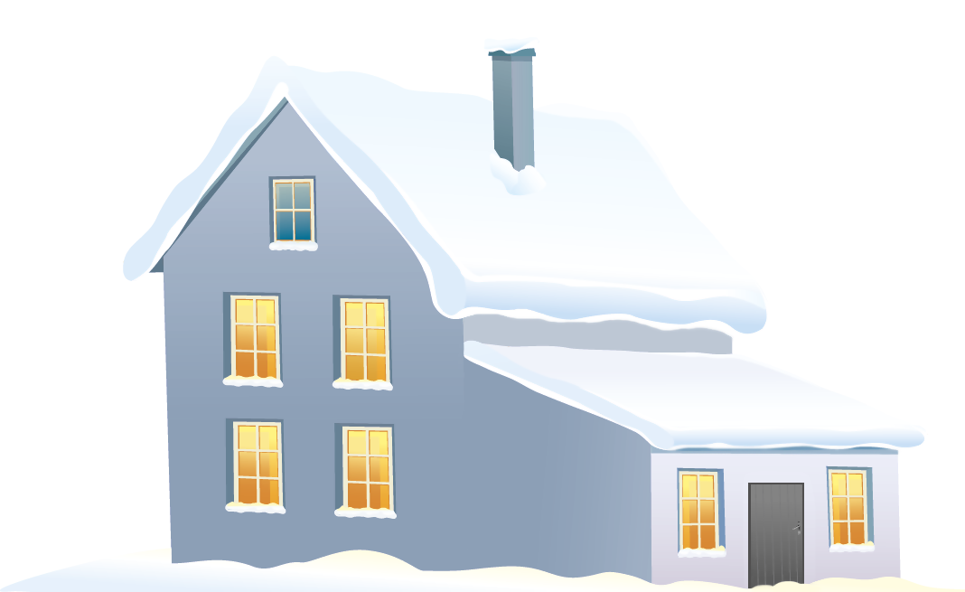 Winter clipart house. Blue png image gallery