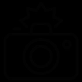 Silhouette clip art at. Flash clipart camera photo shoot