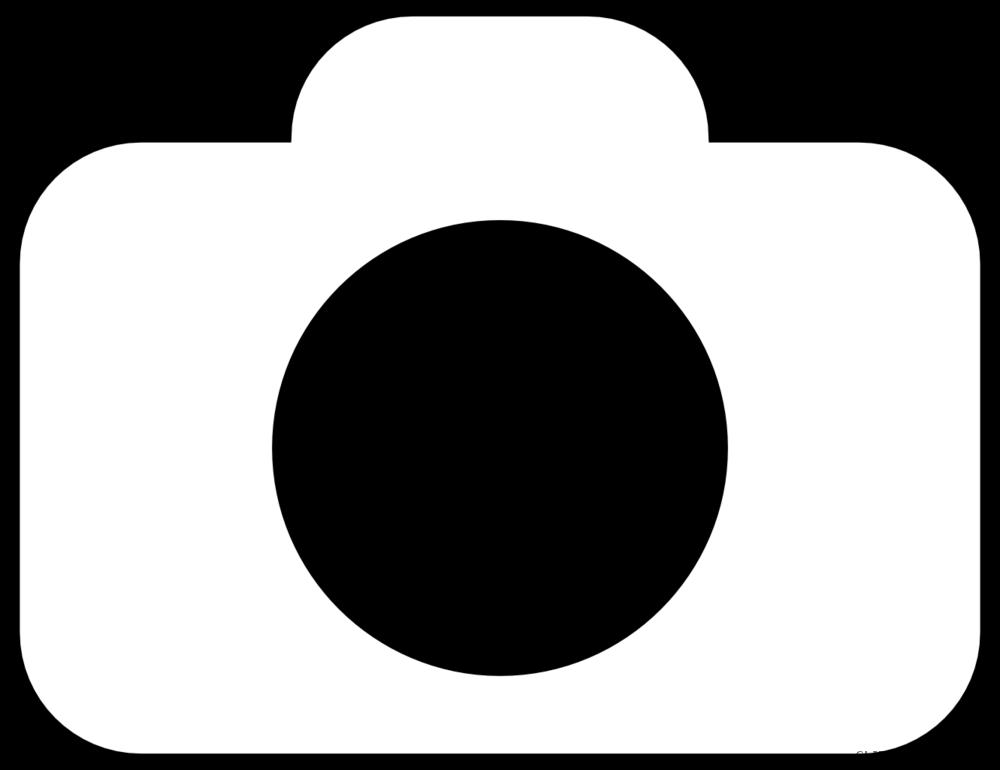 White clipart camera. Line art clipartblack com