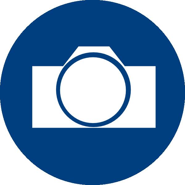 Blue camera clip art. R clipart icon