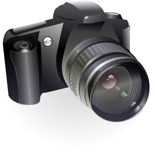 Clip art at clker. Yearbook clipart canon camera