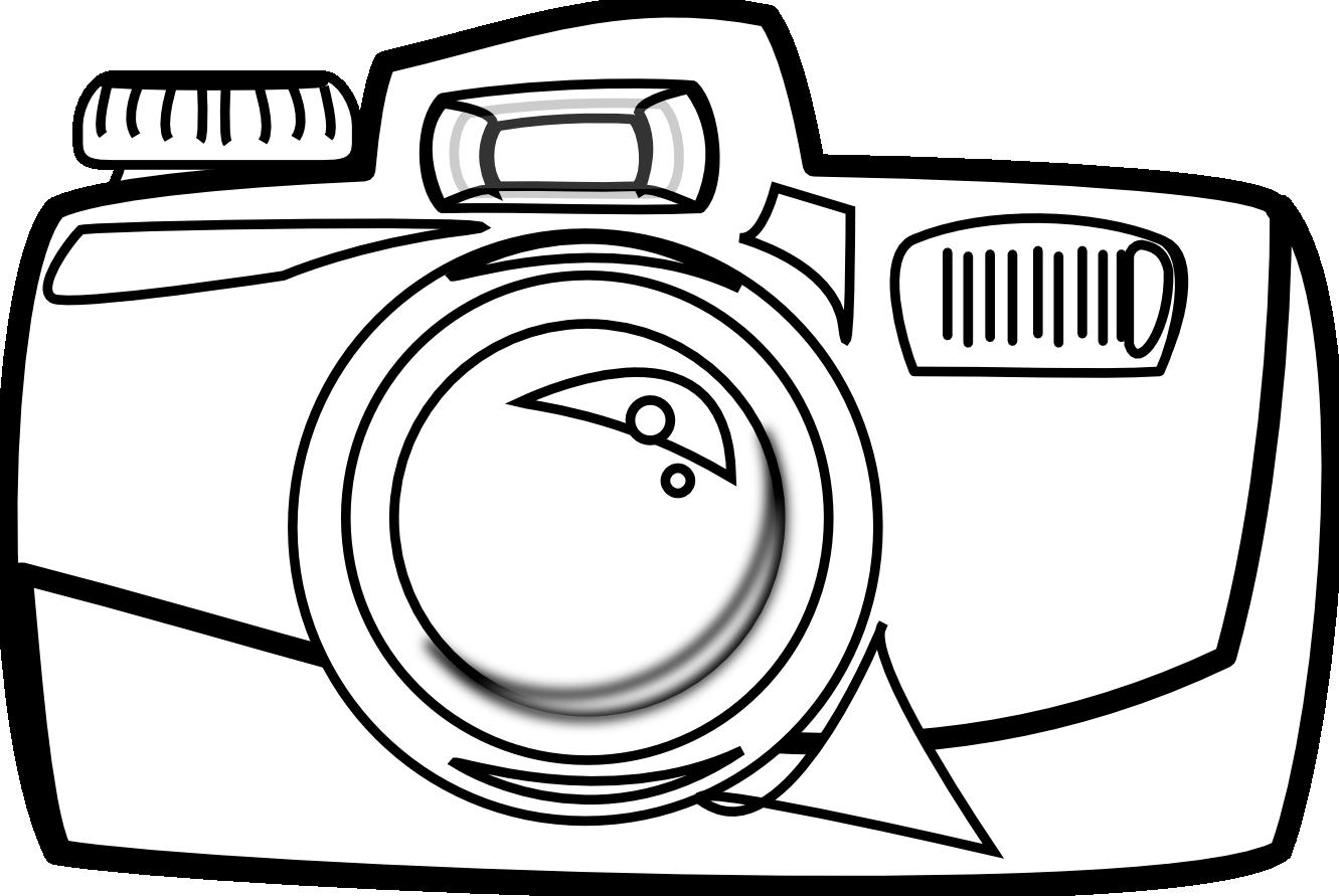 Cartoon black panda free. White clipart camera