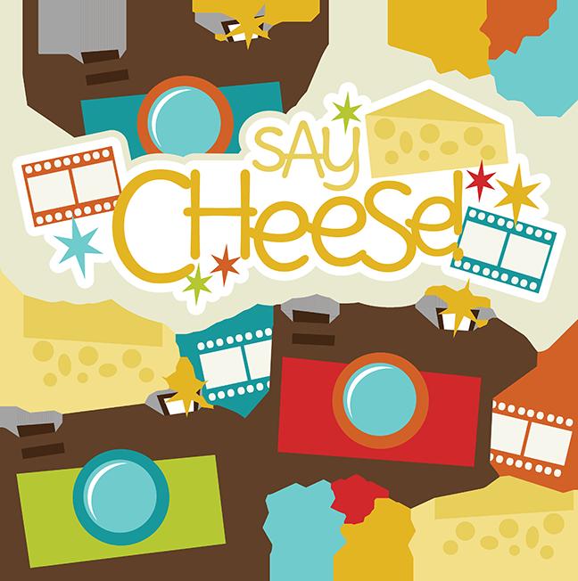 Say cheese svg files. Scrapbook clipart camera