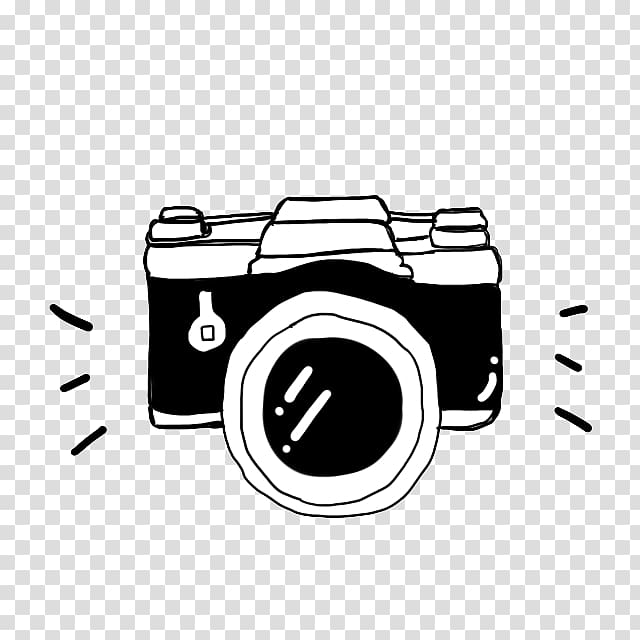Cartoon black and white. Clipart camera clear background
