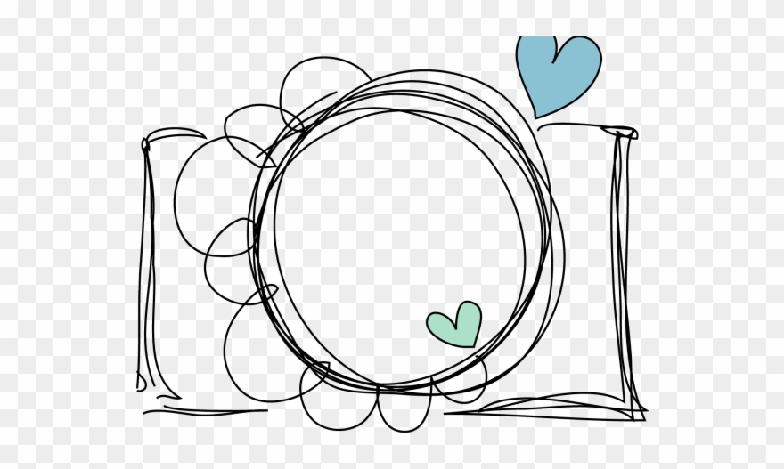 Line art png download. Clipart camera doodle