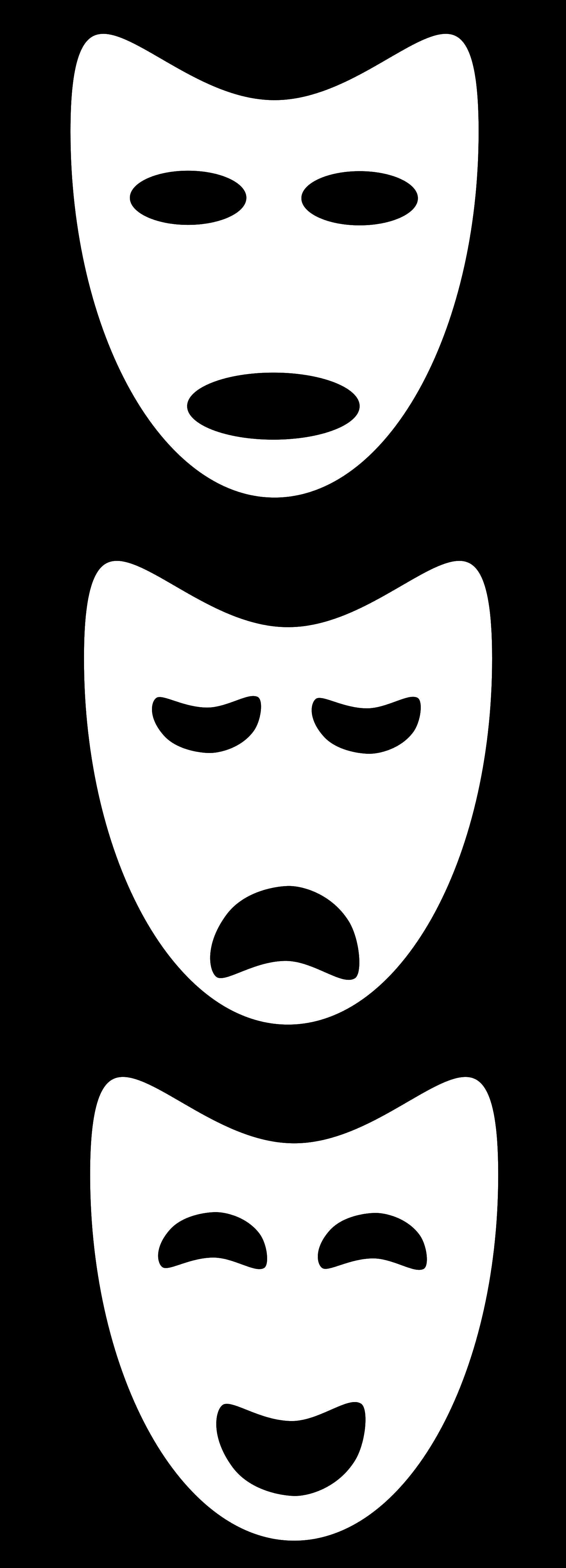File masks svg wikimedia. Faces clipart drama mask