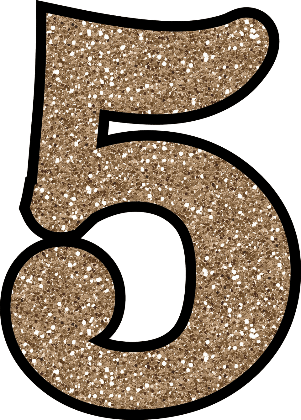 Glitter without the mess. Number 2 clipart individual number