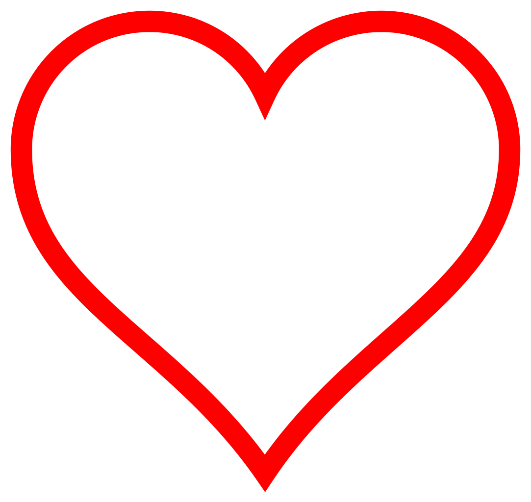 Heart clip art free. Love clipart outline