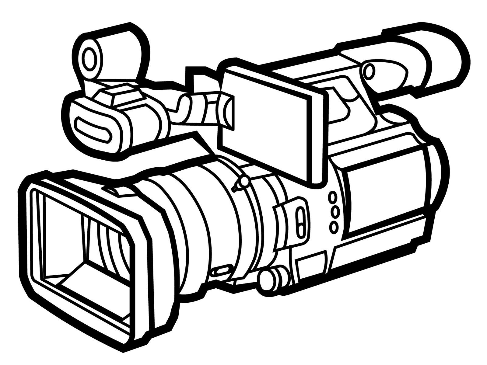 Free download clip . Clipart camera line art