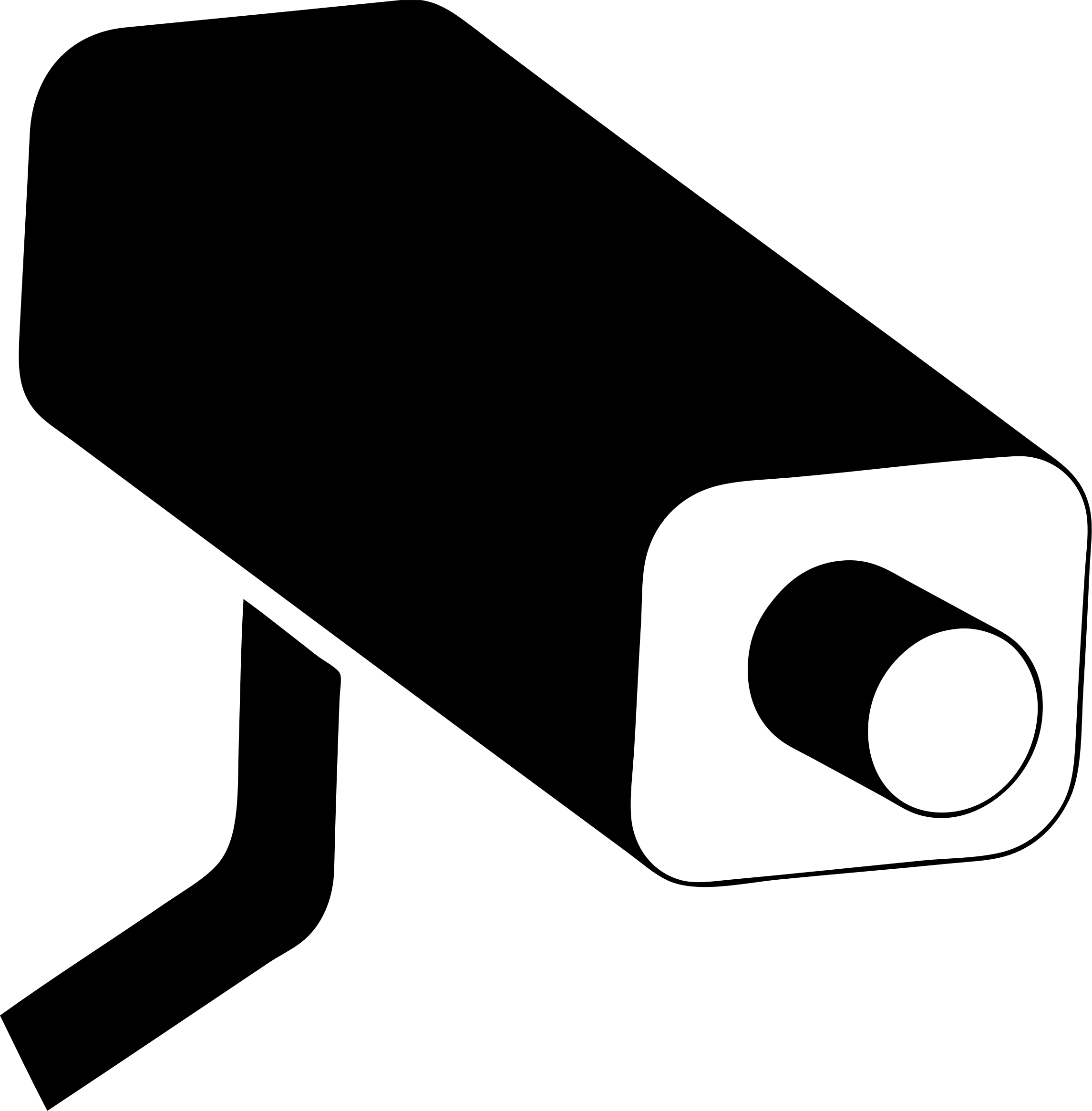 Warning symbol remastered big. White clipart camera