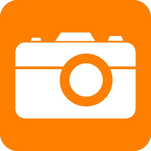 Clipart camera logo. Orange clip art at