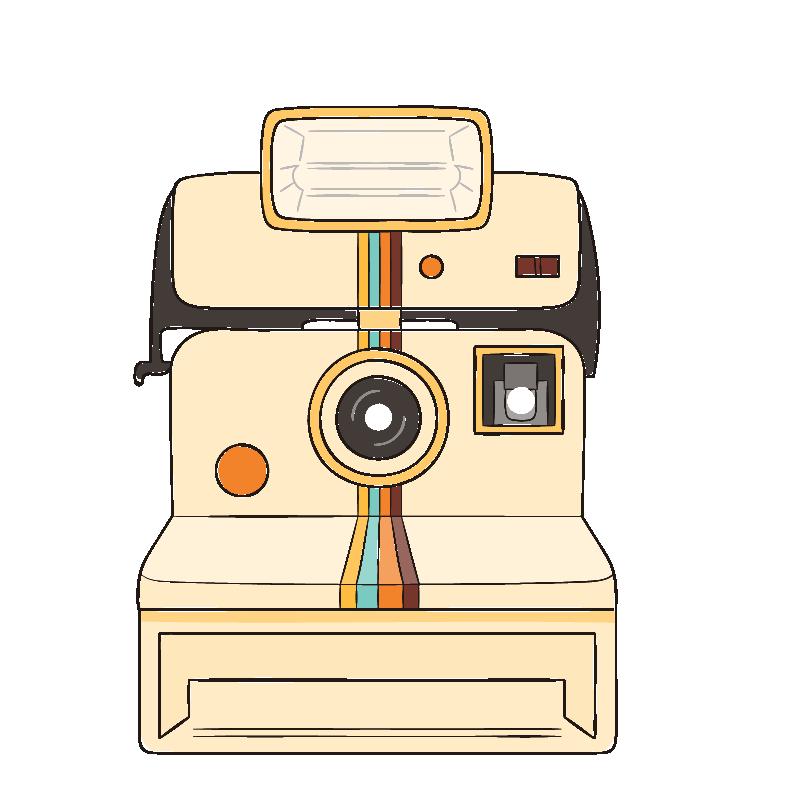 Clipart camera polaroid camera. Photographic film cartoon instant