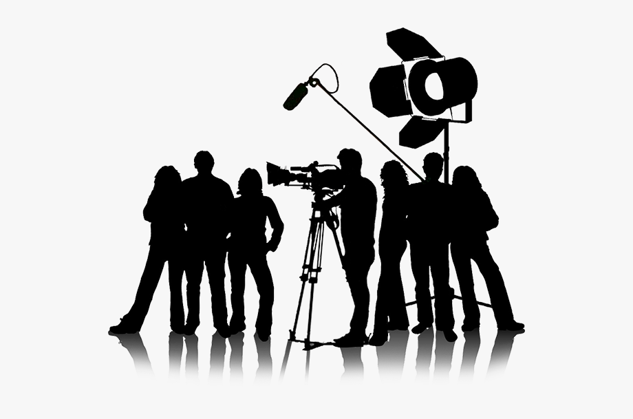 Film clipart film industry. Camera crew production png