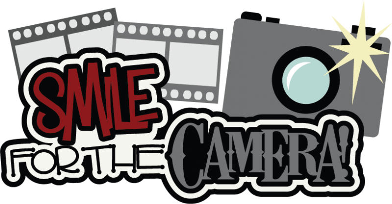 Smile for the svg. Scrapbook clipart camera