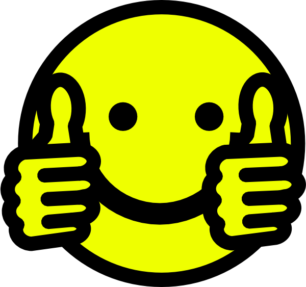 Study clipart emoticon. Clip art thumbs up