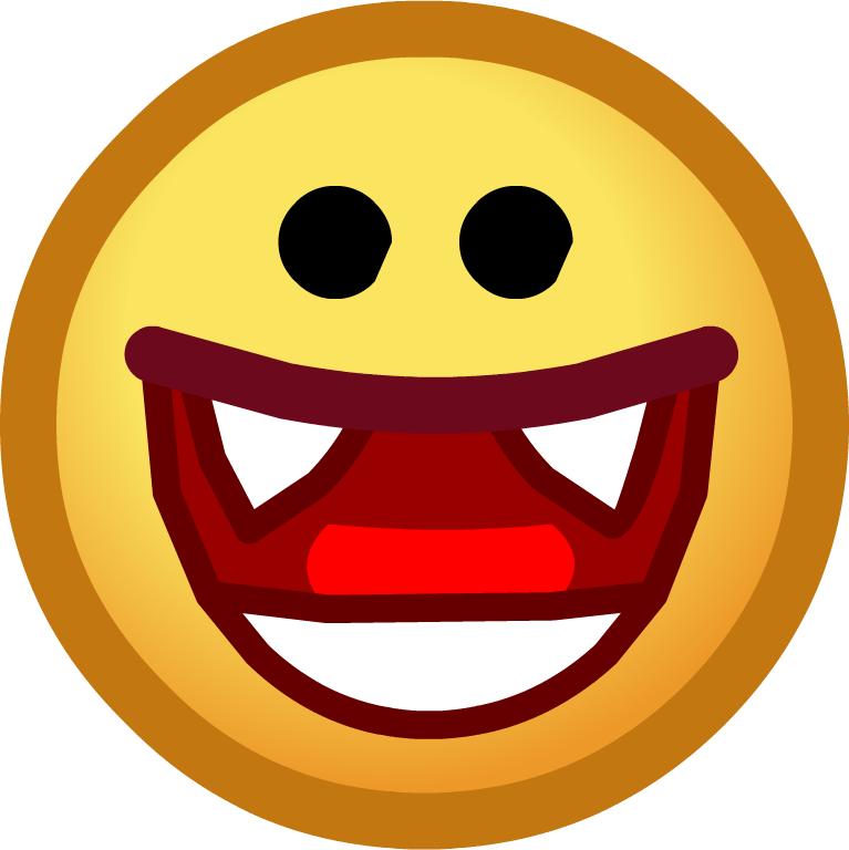 Vampire clipart vampire face. Image halloween emoticons smile