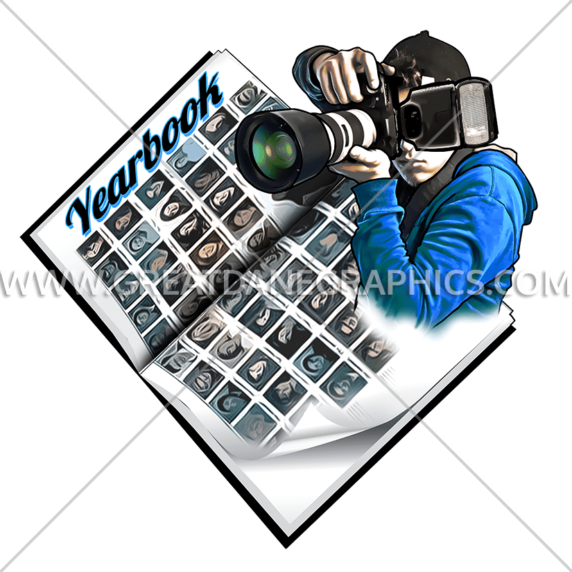Yearbook clipart colorful camera. Snapshot production ready artwork