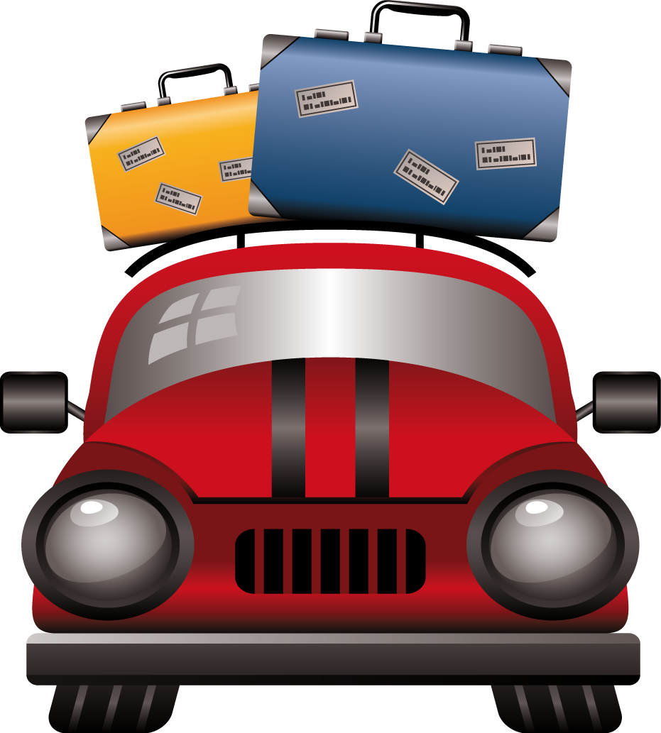 Travel icons free and. Clipart car luggage