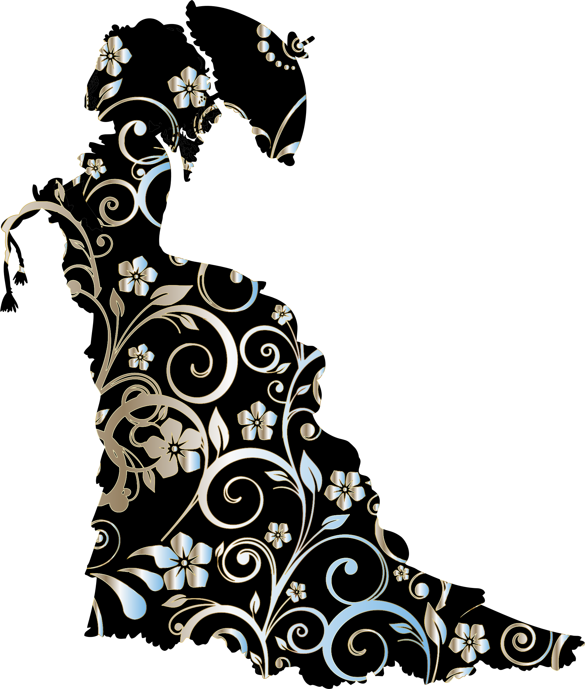 Maid clipart vintage. Silhouette at getdrawings com