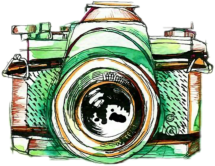 Photographer clipart green camera. Watercolor photography freetoedit