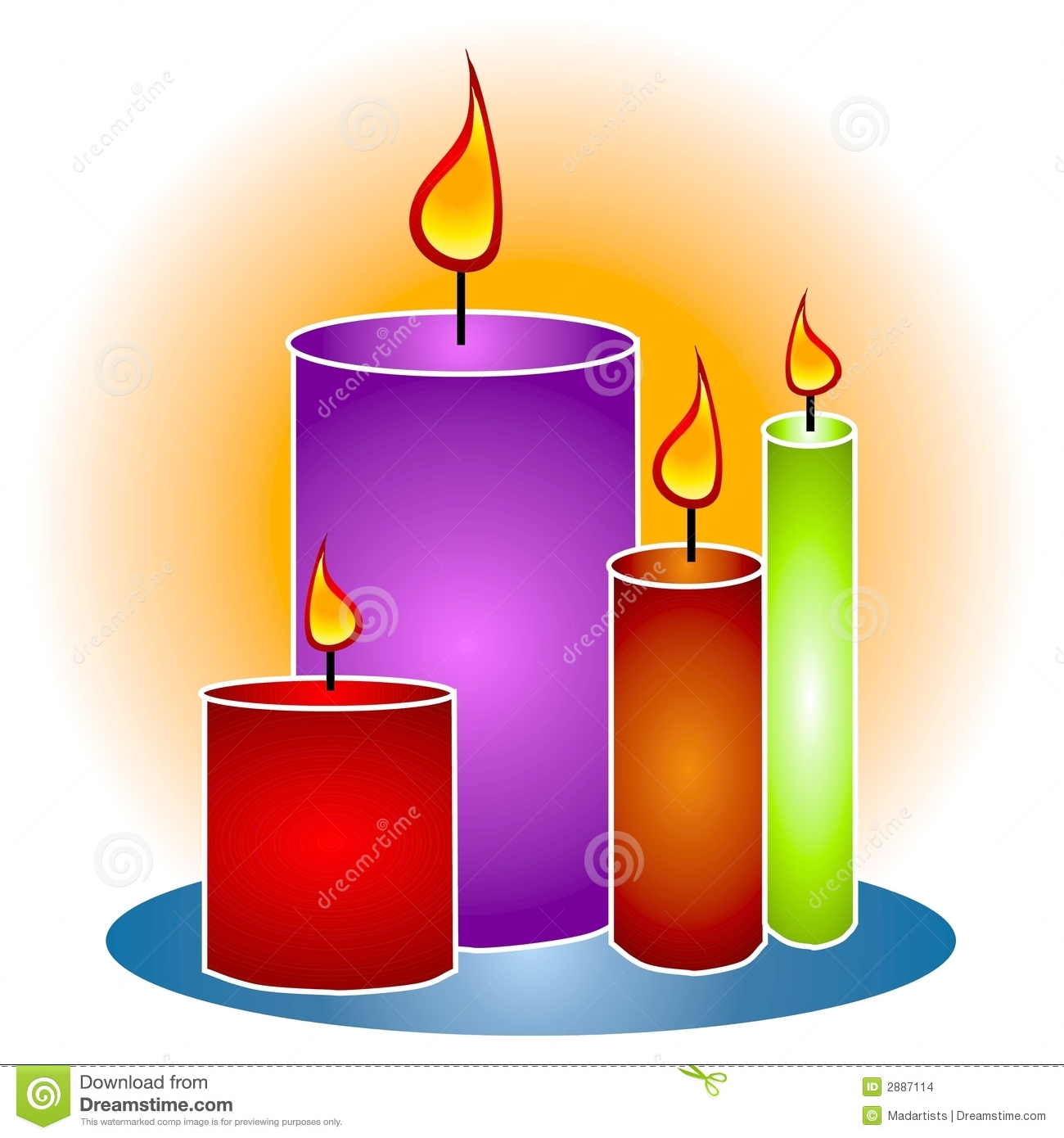 Flame image panda free. Clipart candle