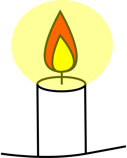 Candles clipart line art. Candle clip at clker