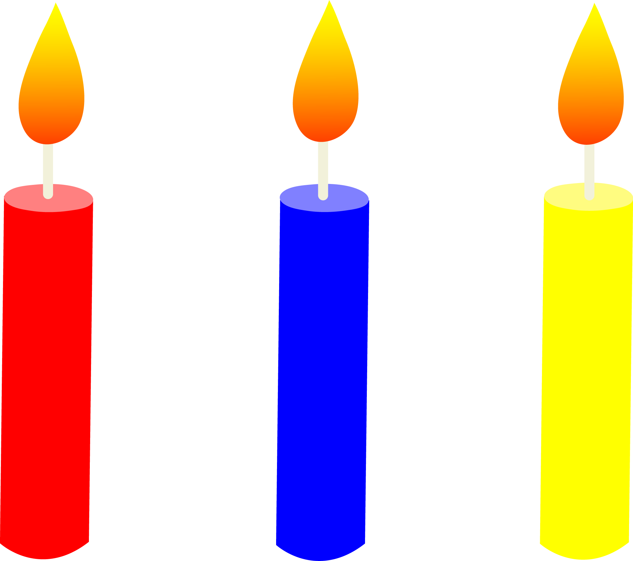 Birthday . Candle clipart