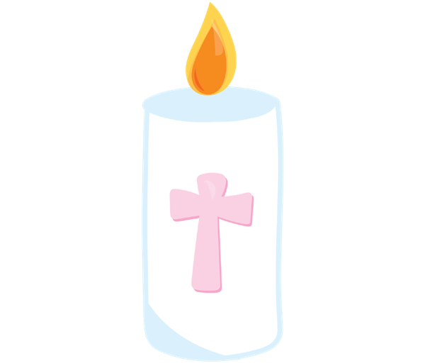 Candle baptism candle