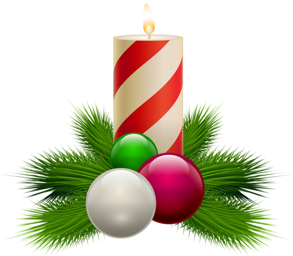 Transparent christmas white candle. Coins clipart 3d gold