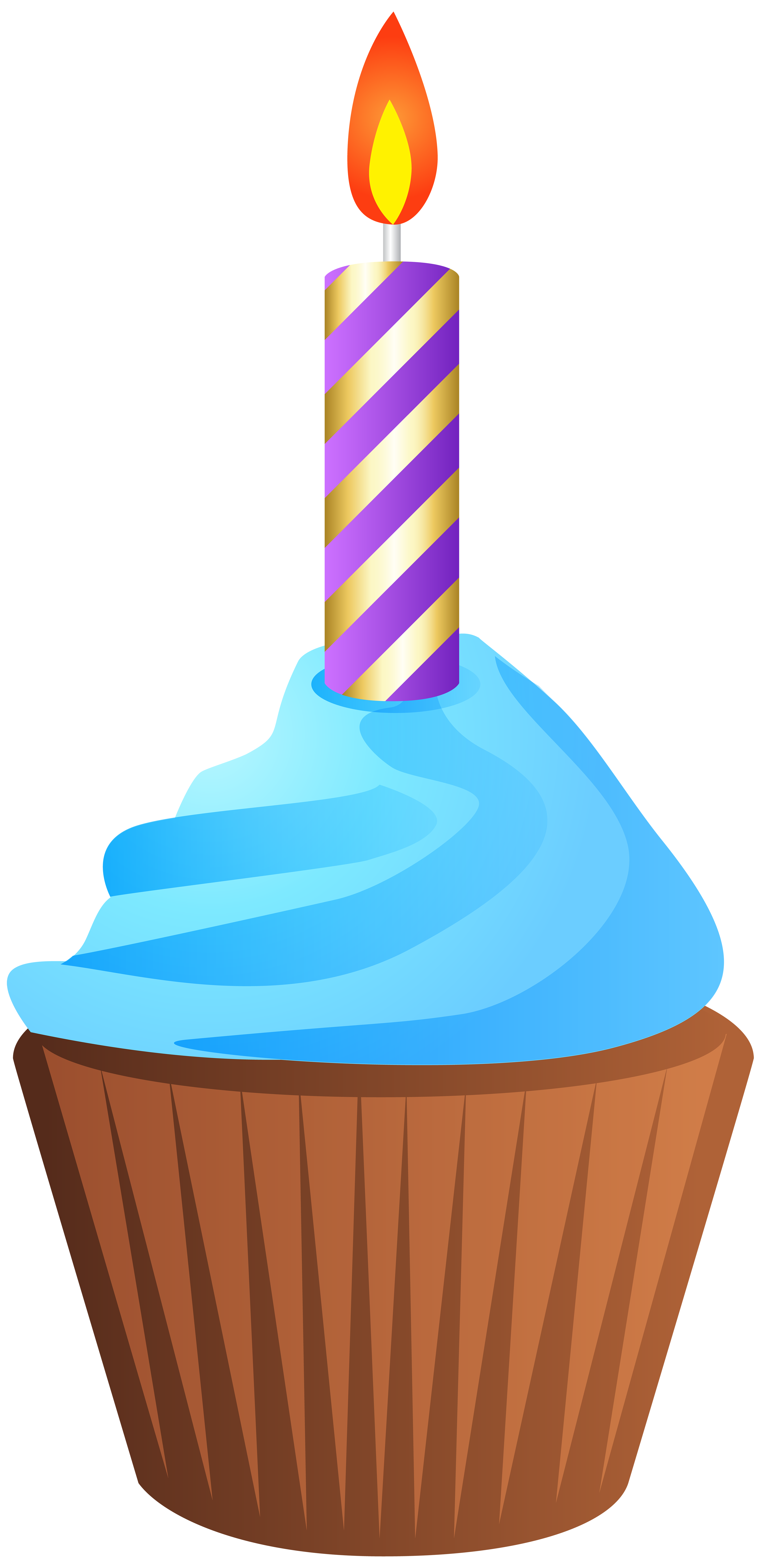 Muffins clipart bran muffin. Birthday with candle transparent