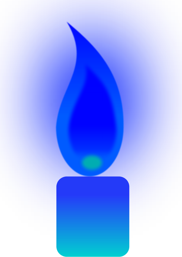 Pentecost clipart candle flame. Blue clip art candles