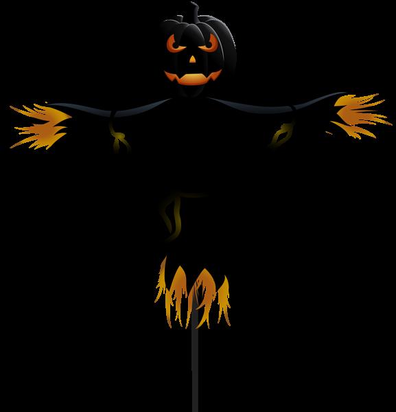 Pumpkin scarecrow transparent png. Clipart halloween decoration