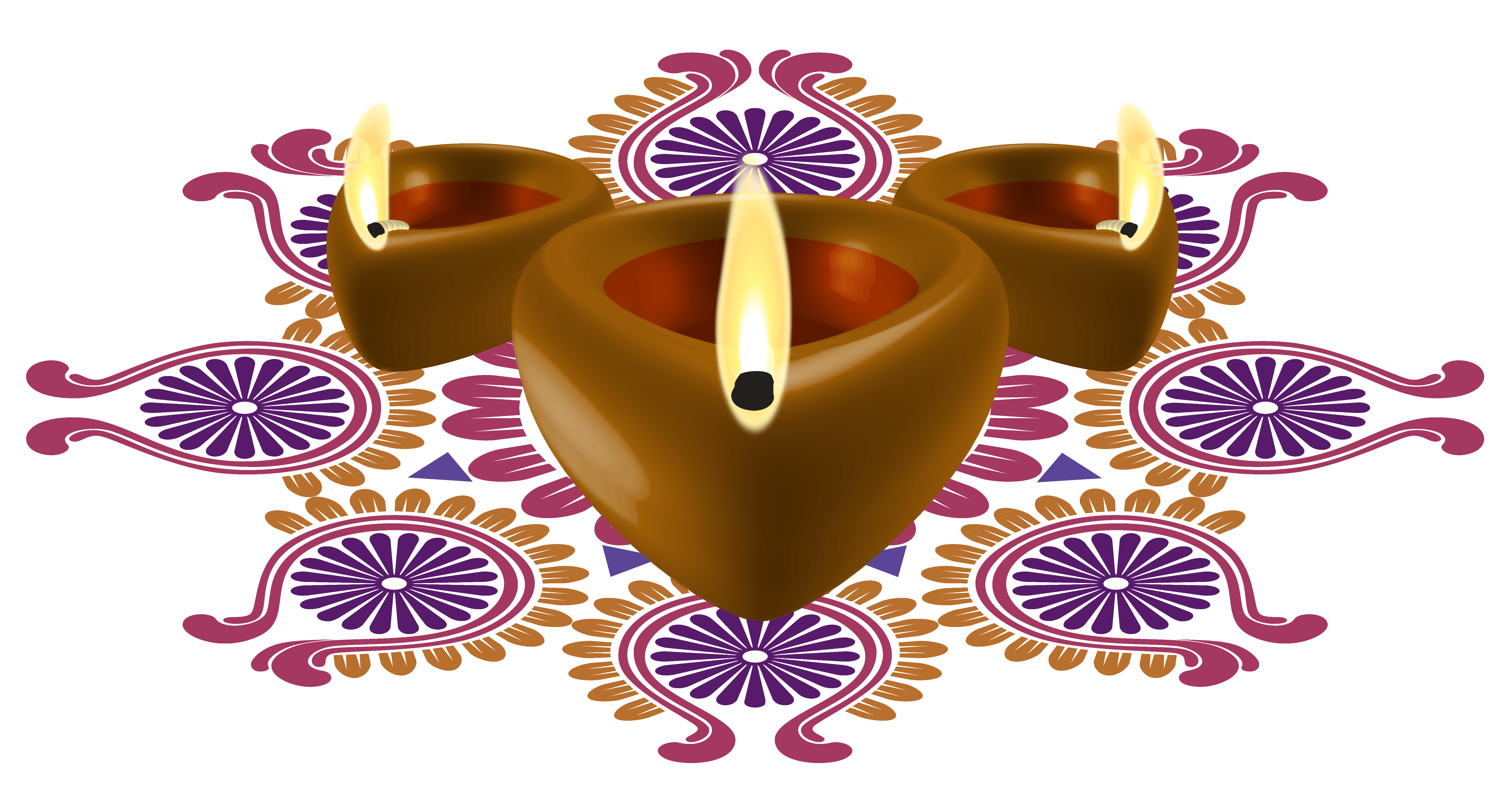Happy diwali decorative candles. Festival clipart thaipusam