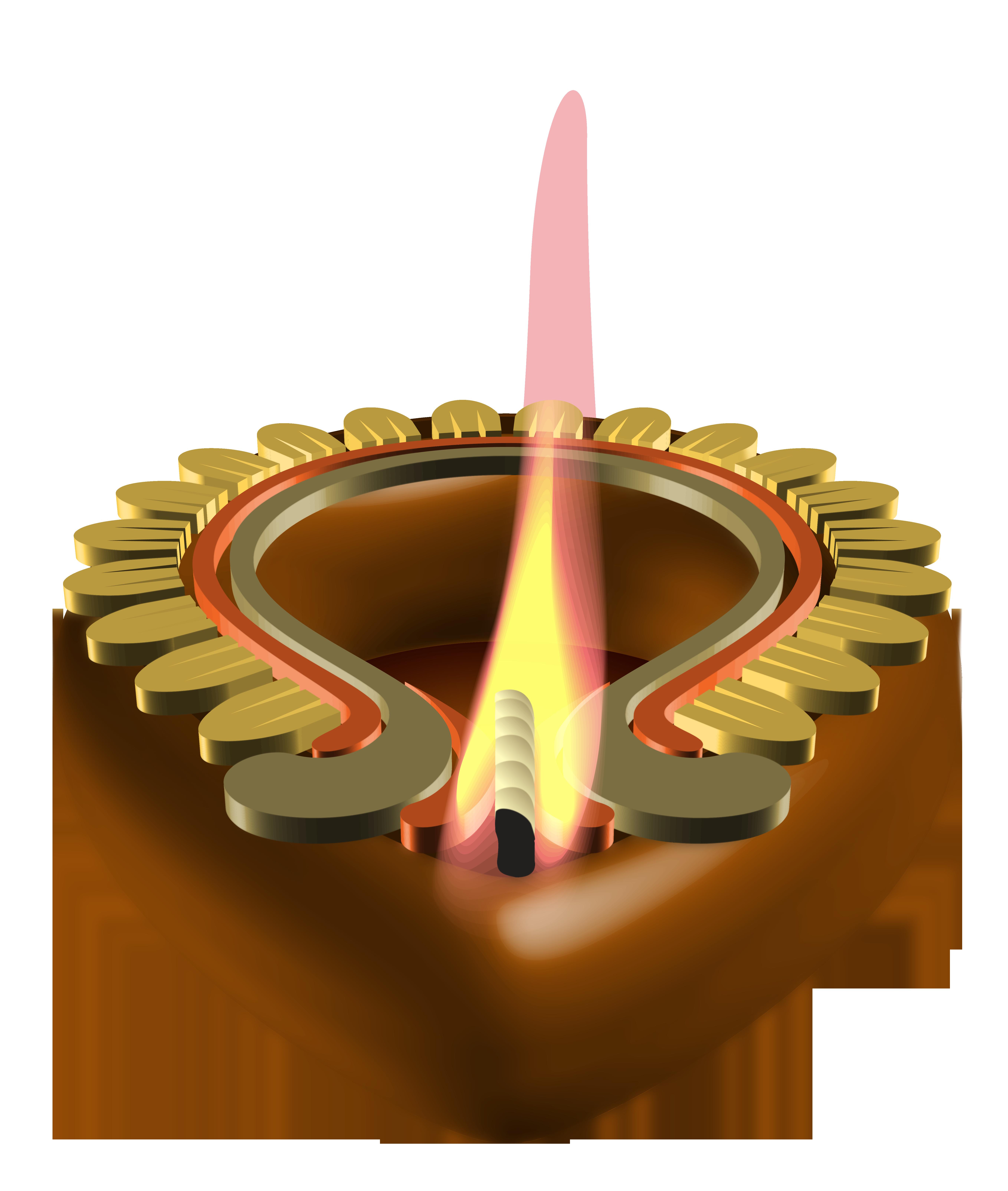 Lamp clipart agal vilakku. Decorative candle happy diwali