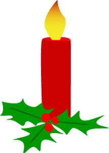 Charm christmas with holly. Clipart candle holiday candle