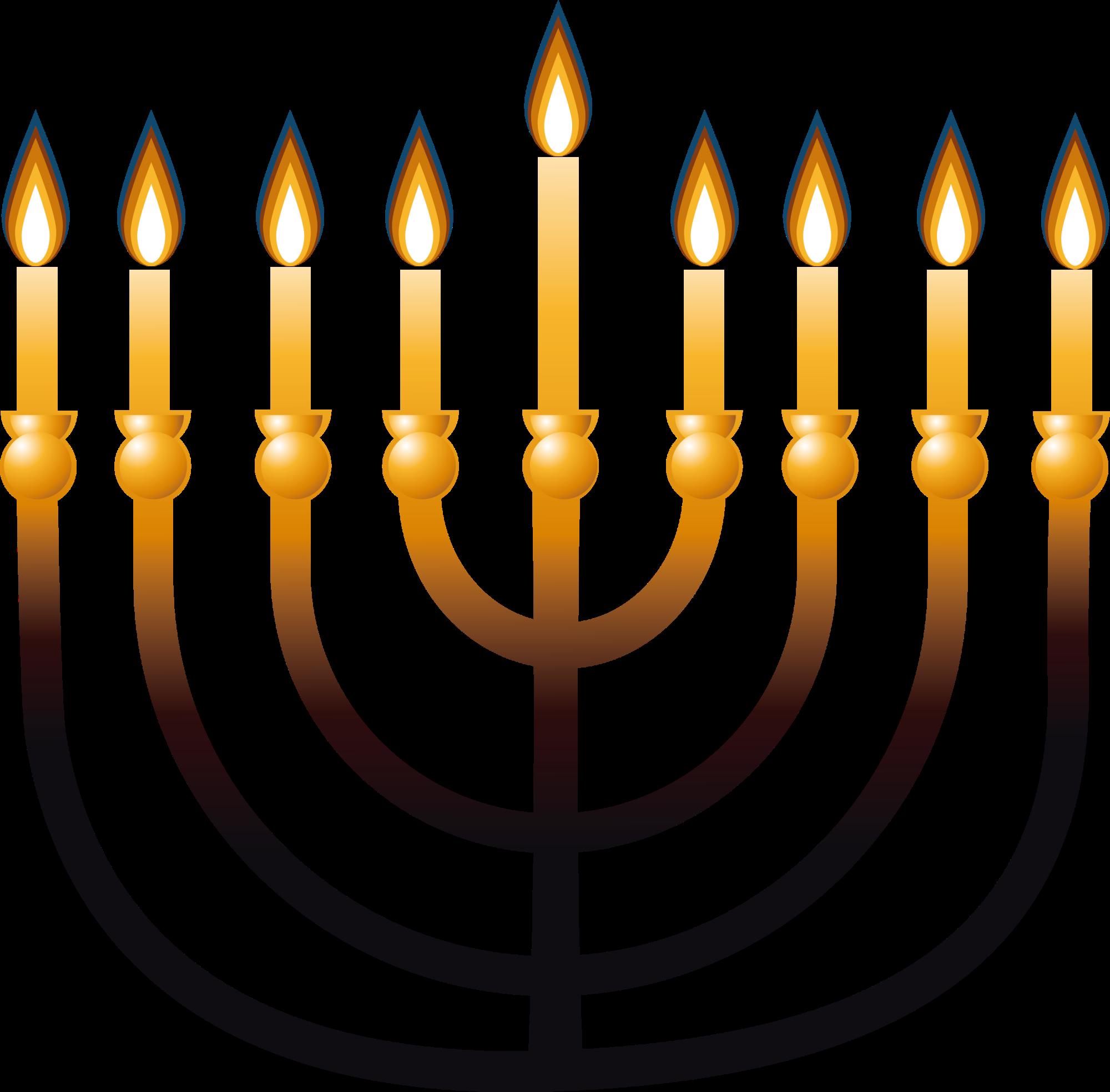 Menorah jewish people candle. Decoration clipart hanukkah