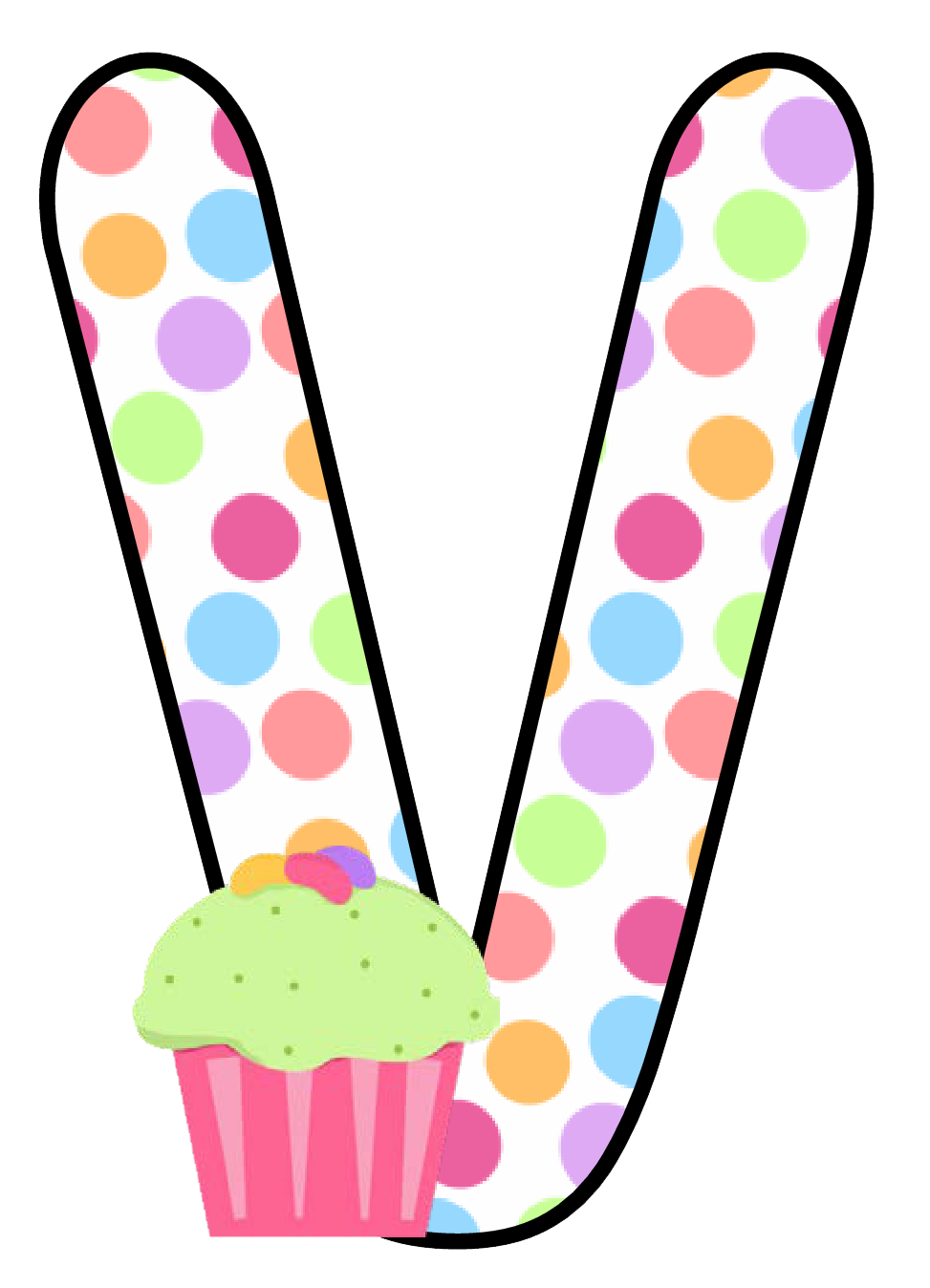 Ch b alfabeto cupcake. Clipart candle kid
