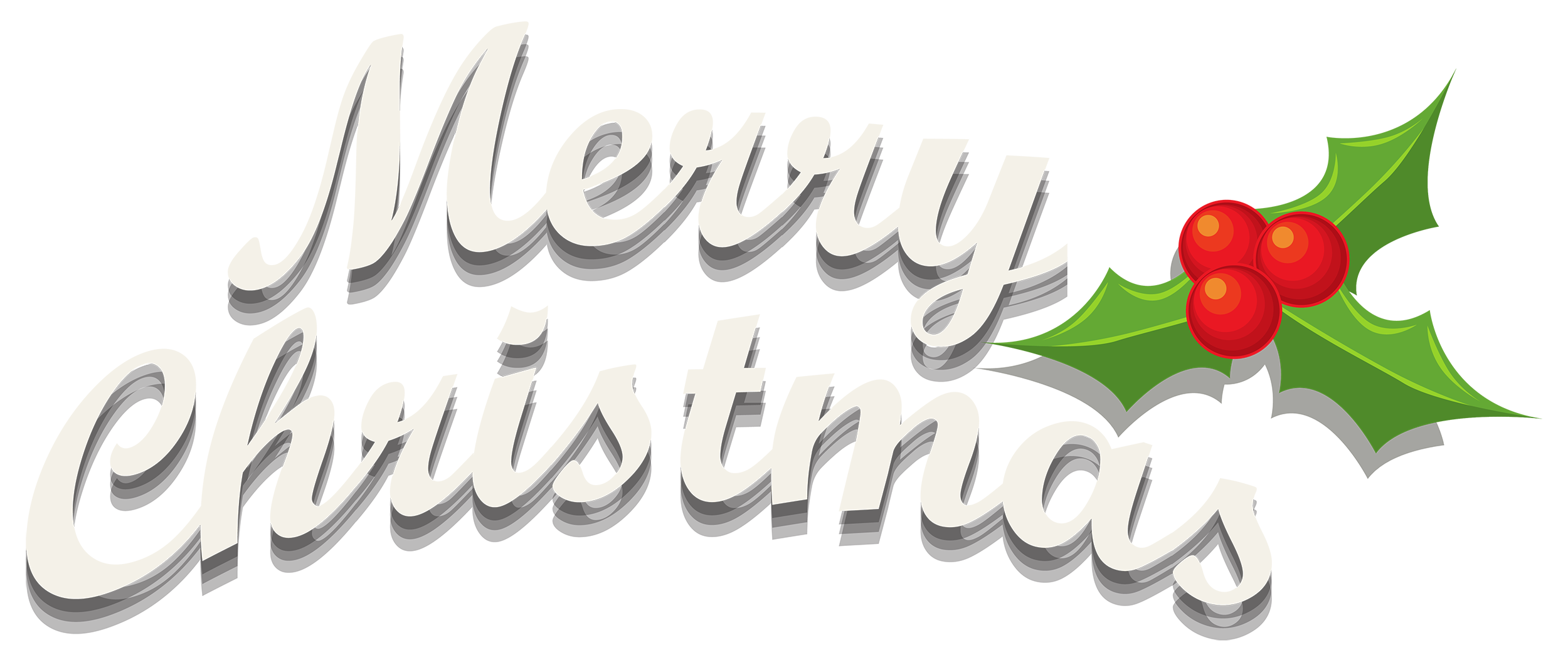 Merry christmas png images. Decor with mistletoe clipart