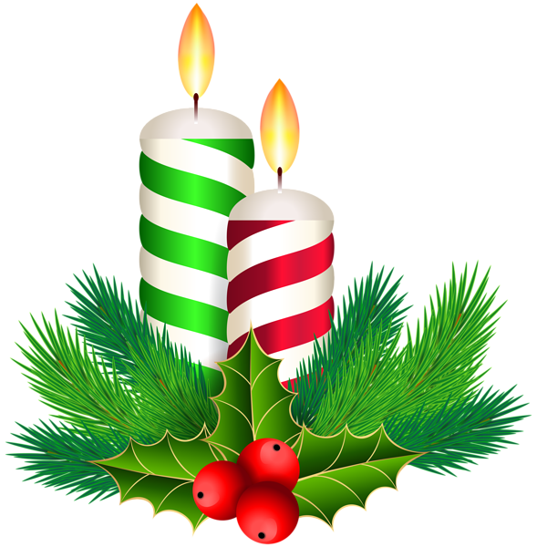 Pin by marina on. Holly clipart candle