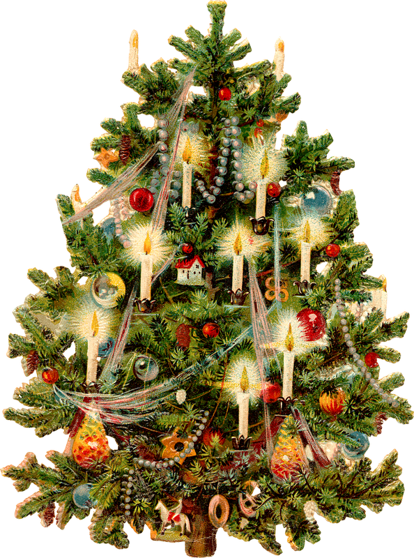 Tree printable pinterest . Clipart christmas victorian