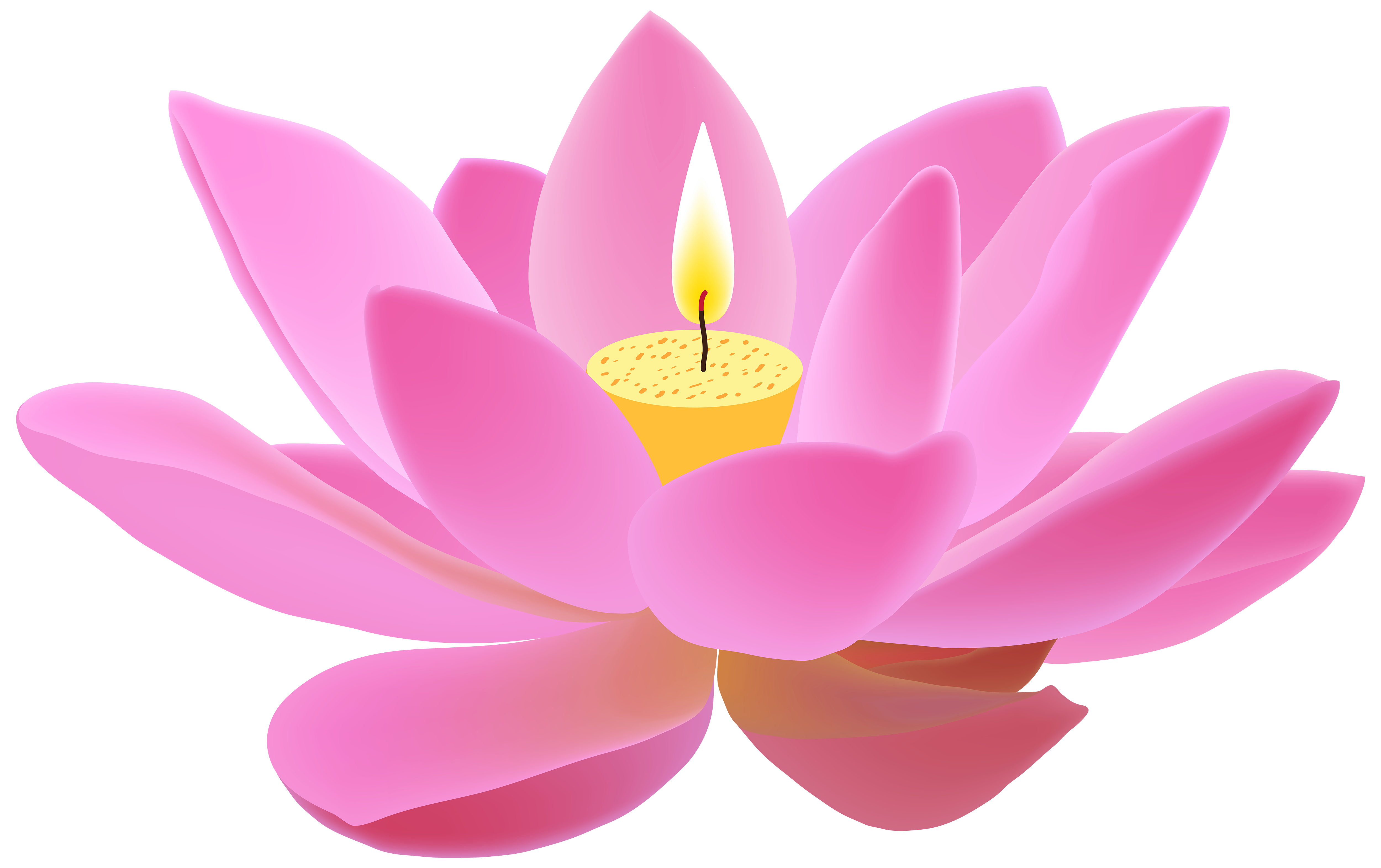 Lotus free png clip. Clipart candle pink candle
