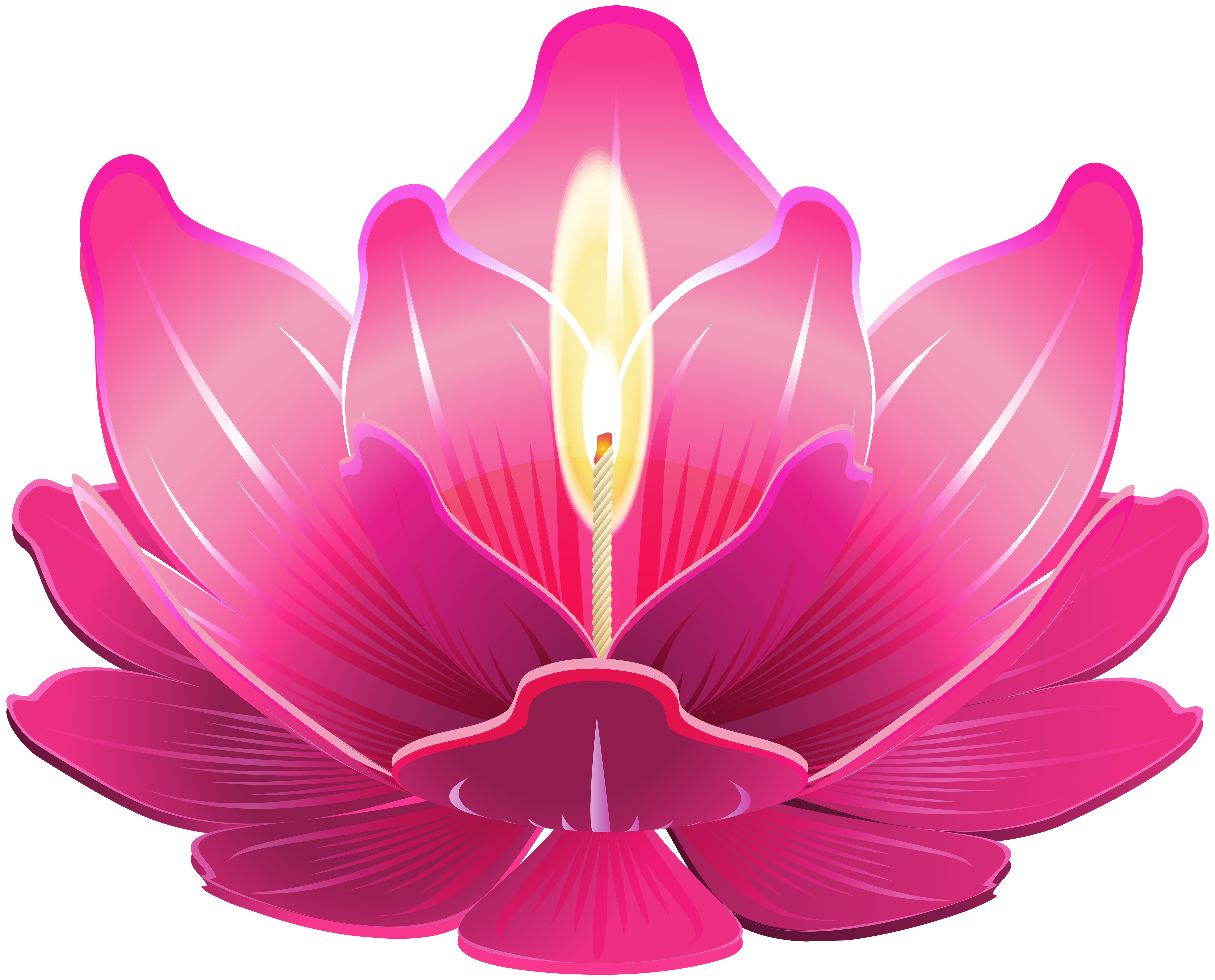 Clipart candle pink candle. Lotus with png clip