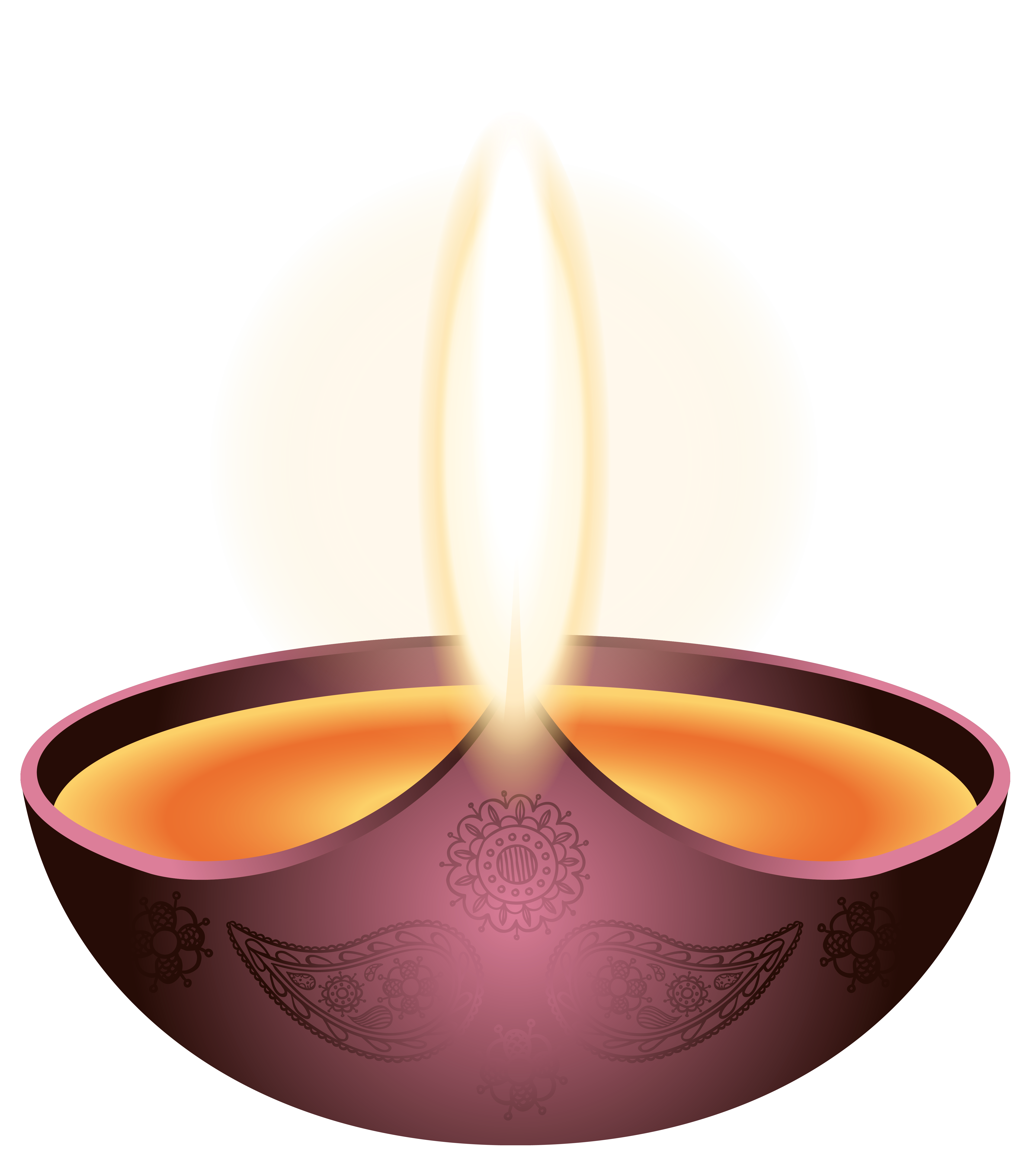 Purple candle happy diwali. Lamp clipart hindu puja